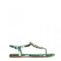 Dámské zelené sandály Ibiza 7163