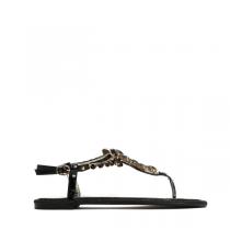 Dámské černé sandále Larissa 7161