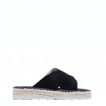 Dámské černé pantofle Manuela 6137