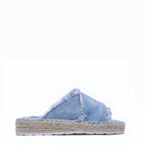 Dámské světle modré pantofle Manuela 6137