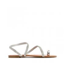 Dámské stříbrné sandále Maura 6131