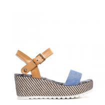 Dámské modré sandály na platformě Natally 6139