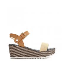 Dámské béžové sandály na platformě Natally 6139