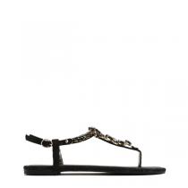 Dámské černé sandály Queen 7164