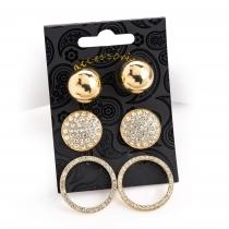 SET: Tři páry náušnic ve zlaté barvě Carmen 30813