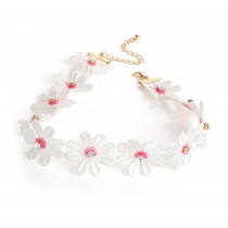 Bílý choker náhrdelník Annie 30928