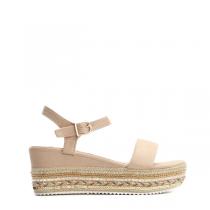 Dámské béžové sandály na platformě Giusy 2083