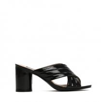 Dámské černé pantofle na podpatku Kyllie 8203