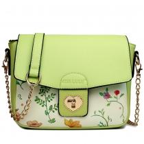 Dámská zelená kabelka Goldie 1636