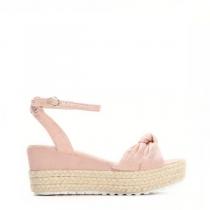 Dámské růžové sandály na klínku Renesmé 6092