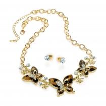 SET: Náhrdelník a náušnice ve zlaté barvě Iana 31205