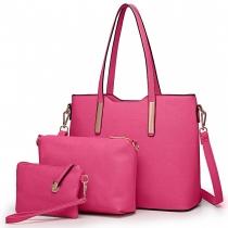 SET: Dámská tmavě růžová kabelka Ariana 6648