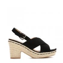 Dámské černé sandály na podpatku Merita 8232