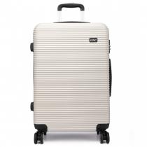 Dámský velký černobílý kufr na kolečkách Travel 6676