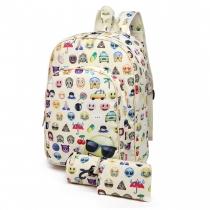 SET: Dívčí béžový školní batoh Sallie 6629