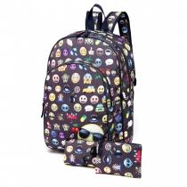 SET: Dívčí šedý školní batoh Sallie 6629