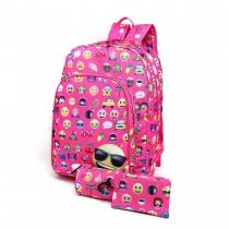 SET: Dívčí růžový školní batoh Sallie 6629