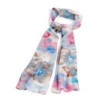 Dámský modro růžový šátek Chali 31287