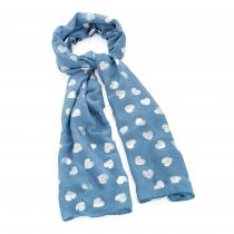 Dámský šátek se stříbrnými srdíčky Loe 31538