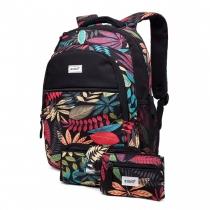 SET: Dívčí černý školní batoh Shayla 1742