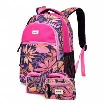 SET: Dívčí růžový školní batoh Shayla 1742