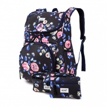 SET: Dívčí námořnicky modrý školní batoh Lola 1743