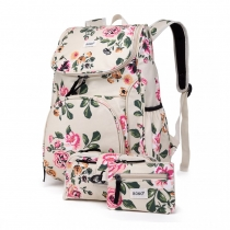 SET: Dívčí béžový školní batoh Lola 1743
