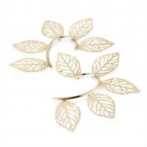 Háček za ucho ve zlaté barvě Leaf 26354