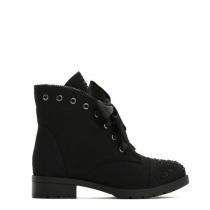 Dámské černé kotníkové boty Amber 6154