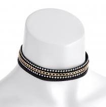 Černý choker náhrdelník Anama 30972