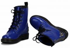 Dámské modré kotníkové boty Punk 113