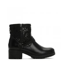Dámské černé lesklé kotníkové boty California 2125a