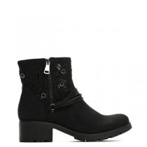 Dámské černé matné kotníkové boty California 2125