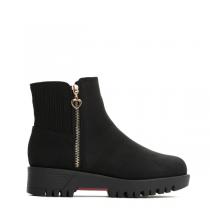 Dámské černé matné kotníkové boty Madelain 2148a
