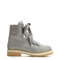 Dámské světle šedé kotníkové boty Cariba 9094