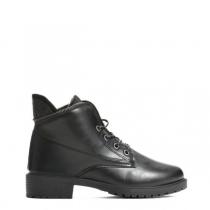 Dámské černé lesklé kotníkové boty Anette 820a