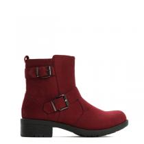 Dámské vínové kotníkové boty Nissa 6174