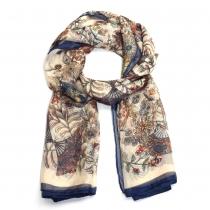 Dámský modrobílý šátek Ginna 022