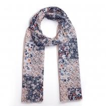 Dámský modrobílý šátek Dobbi 028