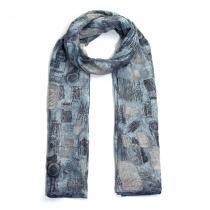 Dámský modrý šátek Meg 029