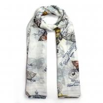 Dámský bílý šátek Elodie 033