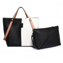 SET: Dámská černobílá kabelka Brenda 198