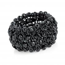 Dámský černý náramek Isolda 31502