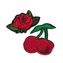 Dvě červené sponky Cherry 31498