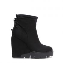 Dámské černé matné kotníkové boty Kaira 3033