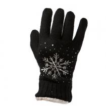 Černé prstové rukavice Snowflake