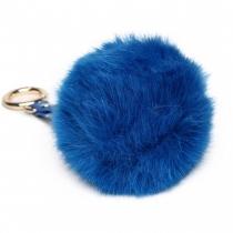 Modrý přívěšek pompom 002