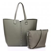 SET: Dámská šedá kabelka Sarah 548