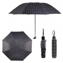 Černý károvaný deštník Carley 012