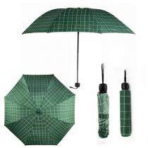 Zelený károvaný deštník Carley 012